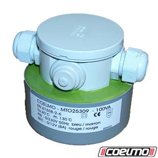 Coelmo transformateur torique 100 va pri 230v sec 12v ip54 for Transformateur 12v piscine